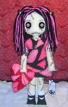 Hearts:  #St. #Valentine's #Day Rag Doll.