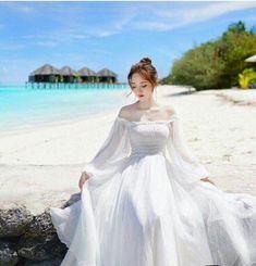 Korean Girl Fashion, Cute Fashion, Pretty Dresses, Beautiful Dresses, Cute Clothes For Women, Bridal Photoshoot, Fantasy Dress, Poses, Ulzzang Girl