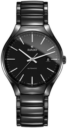 Rado Watch True L #bezel-fixed #bracelet-strap-ceramic #brand-rado #case-material-ceramic #case-width-40-1mm #date-yes #delivery-timescale-call-us #dial-colour-black #gender-mens #luxury #movement-automatic #official-stockist-for-rado-watches #packaging-rado-watch-packaging #style-dress #subcat-true #supplier-model-no-r27056152 #warranty-rado-official-2-year-guarantee #water-resistant-50m