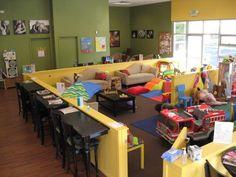 Coffee area/kids play area combo.