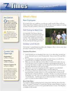 Employee Newsletter Ideas  Newsletters    Ideas And