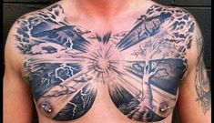 Most Popular Chest Tattoos for Men | CUSTOM TATTOO DESIGN Full Chest Tattoos, Chest Tattoos For Women, Chest Piece Tattoos, Cloud Tattoo Design, Tatto Design, Tree Tattoo Men, Tree Tattoo Designs, Branch Tattoo, Neck Tattoo For Guys