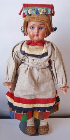 "16"" Antique Russian Doll FEMALE Terra Cotta Bisque Head Blue Eyes RUSSIA Costume | Dolls & Bears, Dolls, Antique (Pre-1930) | eBay!"