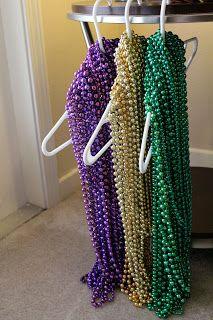 Sew In Love: Mardi Gras Bead Wreath Tutorial