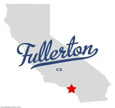 Map of Fullerton California CA