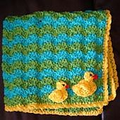 Ravelry: Duck Baby Blanket and Applique pattern by JTcreations