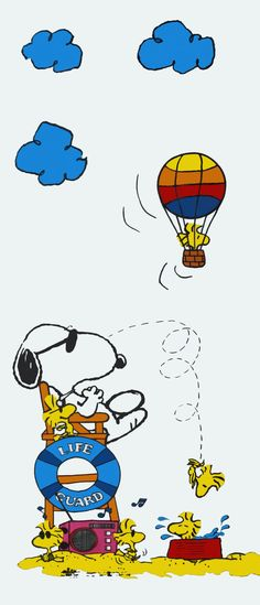 Lifeguard Snoopy With Woodstock and Friends at the Beach- ______________________ -ITALIA by Francesco -Welcome and enjoy- frbrun Meu Amigo Charlie Brown, Charlie Brown Y Snoopy, Peanuts Cartoon, Peanuts Snoopy, Cartoon Dog, Snoopy Wallpaper, Snoopy Pictures, Snoopy Quotes, Bd Comics