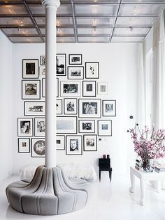 Creative picture placement for an empty wall! #pictures #creative #decorating