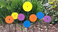 Used Saw Blade Flowers