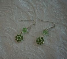 """Peridot Crystal Earrings - 1""""3/4"""