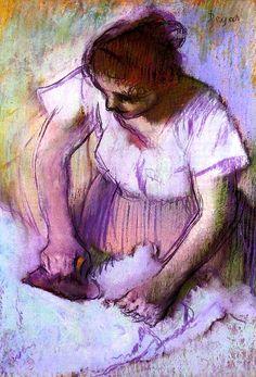 Woman Ironing Edgar Degas - circa 1882-1886