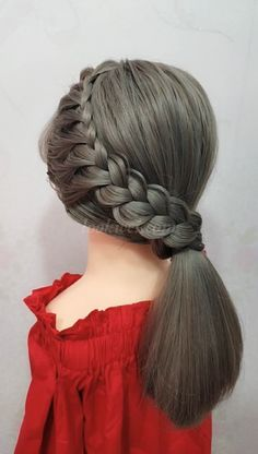 Simple French hairstyle  crochet hair styles videos - Crochet Hair Styles #videos #French #CrochetHairStyles