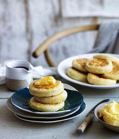 Crumpets with homemade honey butter :: Gourmet Traveller
