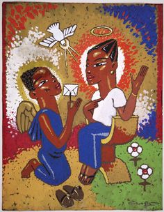 Annunciation non-traditional - but lovely depiction of Annunciation