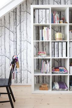 Leuk behang - huis van Sonia van der Zwaan, eigenares van Gosto design & lifestyle (via vtwonen)