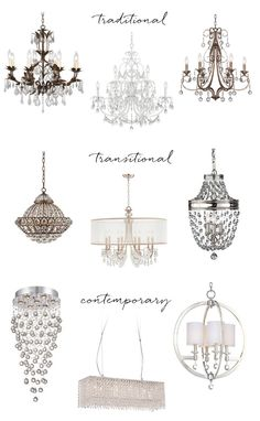 crystal chandeliers - traditional to contemporary