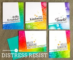 Distress Ink Resist Video + Blog Hop + GIVEAWAY - Jennifer McGuire Ink