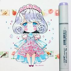 Pin by eman abed on انمى in 2019 desenhos kawaii, desenhos de anime, desenh Art Kawaii, Kawaii Chibi, Cute Chibi, Kawaii Anime Girl, Manga Drawing, Manga Art, Manga Anime, Anime Art, Cute Drawlings