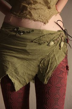 Autumn dance pixie wrap skirt by FractalWings on Etsy