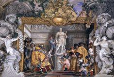 GHERARDI, Filippo Narrative scene 1675-82 Fresco Palazzo Colonna, Rome
