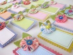 Cute name tags, maybe for guild. Piccalilli Days: Summer Sewing