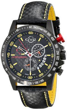 GV2 by Gevril Men's 9901 Scuderia Analog Display Swiss Quartz Black Watch