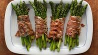Get Rachael Ray's Bacon Wrapped Asparagus Bundles Recipe from Food Network