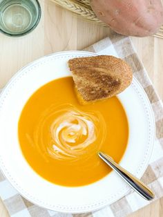 "There is nothing more ""fall"" than butternut squash and sweet potatoes. Don't have butternut squash? Replace it with pumpkin.  Get the recipe at Making Thyme for Health.    - CountryLiving.com"