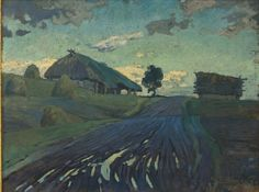 Eduards Brencēns (Latvian, 1885-1929), After the Rain, 1927. Oil on canvas, 55 x 72.5 cm.