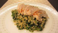 Italské špenátové rizoto s kuřecím masem Risotto, Pork, Meat, Chicken, Kale Stir Fry, Pork Chops, Cubs