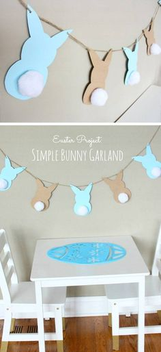 Easter Bunny Garland | DIY Spring Decorations for the Home
