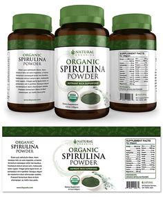 Label Templates Flyer Template Medical Packaging Spirulina Powder Design Inspiration Package