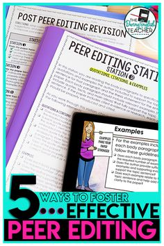 Help your secondary ELA students develop effective peer editing skills by implementing these peer editing strategies and peer review activities in your middle school ELA or high school English classroom. When teaching writing in the secondary ELA class, you must include peer review and peer editing to complete the writing process. Teaching Writing | Peer Review | Peer Editing | Peed Editing Activities | How to Peer Edit | How to teach peer review | Middle School ELA Writing | High School English