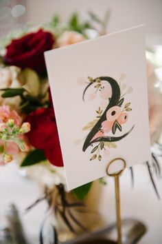Botanical table number | Still55 Photography