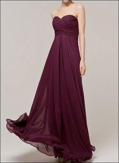 Bodenlanges Abendkleid mit Raffung Traube von LAFANTA Abend- und Brautmode auf DaWanda.com