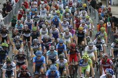 A sea of cyclists pedal past spectators at the start of the Tour de France in Liege, Belgium, on July 1, 2012. The race spans a distance of 123 miles (198 kilometers) and ends in Seraing, Belgium.