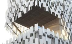 Two new projects by Kengo Kuma in France  The middle of the new FRAC Marseille by Kengo Kuma.