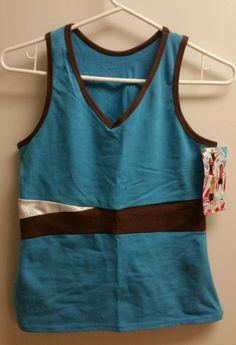 Pizzazz® Cheerleading Top w/ Keyhole Back Wmns XL Turquiose NWT MSRP $23.99 #PizzazzPerformanceWear #ShirtsTops