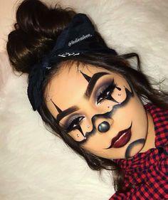 Halloween Makeup Clown, Cute Clown Makeup, Halloween Costumes, Baddie Makeup, Creative Makeup Looks, Scary Makeup, Special Effects Makeup, Fantasy Makeup, Costume Makeup