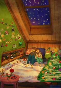 Huddled up in a cozy room, looking up at the sky as the snow falls. It would be nice if the snow piles up. We'll be able to have a snow fight again! 따뜻한 방 안에서 눈이 내리는 하늘을 봐요. 눈이 많이많이 쌓였으면 좋겠다, 그럼 또 눈싸움 하는거야!