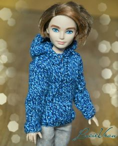 gray or blue sweater with hood for Ever After High by LucieVran