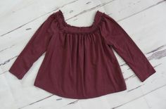 Girls BABY GAP Purple Mesh Ruffled Chest Long Sleeve Knit Top Size 18-24 Months #babyGap #DressyEveryday