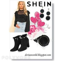Shein 2018 Promotions-Deria' s Choices Get The Look, Choices, Promotion, Group, Board, Polyvore, Image, Style, Fashion