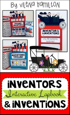 Inventors and Inventions Interactive Lapbook and Mini-Unit Social Studies Resources, Learning Resources, Invention Ideas For Kids, Study Board, Alphabet Tracing, Research Skills, Vocabulary Activities, Simple Machines, Reading Passages