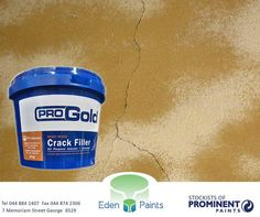 Pro Gold Ready Mixed Crack Filler is an off-white, ready-mixed emulsion-bound filler in paste form. It provides a tough, flexible, weather-resistant filling for both interior and exterior surfaces.