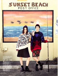 Tati and Alana Model Rock Style for Vogue Russia July 2013 by David Mushegain | Fashion Gone Rogue: The Latest in Editorials and Campaigns