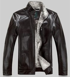Faux Leather Moto Jacket With Hoodie | Brown leather bomber jacket ...