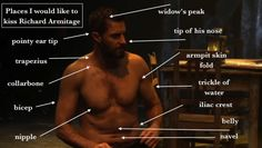 Places I would like to kiss Richard Armitage: John Proctor objectification…