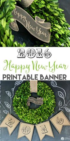 New Years Eve 2016 Printable Banner   Free printable banner for New Years Eve Parties or simple decor. Save for upcoming graduation party planning   TodaysCreativeLife.com