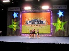 Cedar Falls High School stunt team at Nationals 2011
